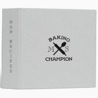 Faux Leather Baking Champion Dad Recipe Binder