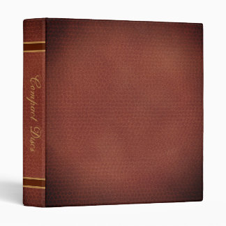 Faux Leather Elegant Compact Discs CD Library Book Binder