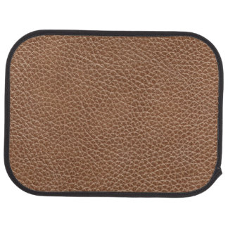 Faux Leather Natural Brown Car Mat
