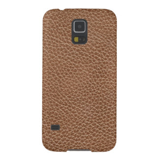 Faux Leather Natural Brown Case For Galaxy S5
