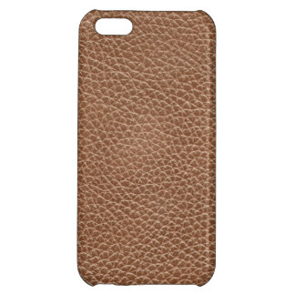 Faux Leather Natural Brown Cover For iPhone 5C