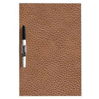 Faux Leather Natural Brown Dry Erase Board