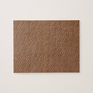 Faux Leather Natural Brown Jigsaw Puzzle