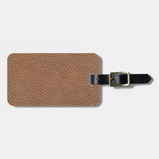 Faux Leather Natural Brown Luggage Tag