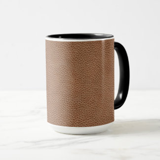 Faux Leather Natural Brown Mug