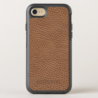 Faux Leather Natural Brown OtterBox Symmetry iPhone 8/7 Case