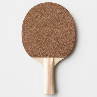 Faux Leather Natural Brown Ping Pong Paddle