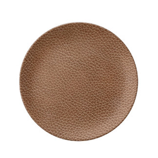 Faux Leather Natural Brown Plate