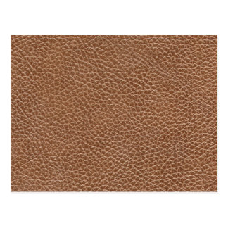 Faux Leather Natural Brown Postcard
