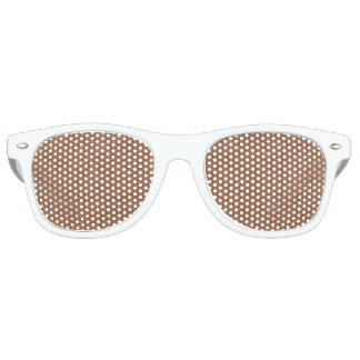 Faux Leather Natural Brown Retro Sunglasses