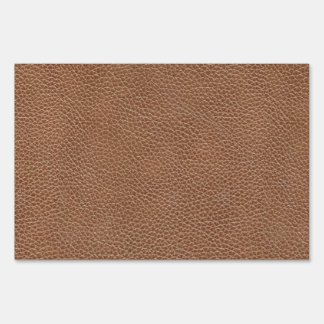 Faux Leather Natural Brown Sign