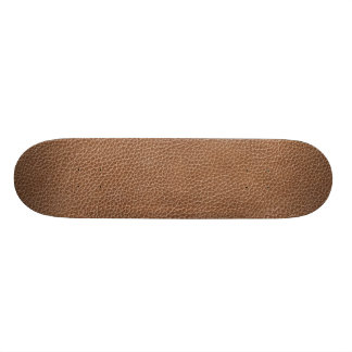 Faux Leather Natural Brown Skateboard Deck