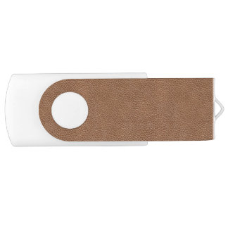 Faux Leather Natural Brown USB Flash Drive