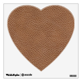 Faux Leather Natural Brown Wall Decal