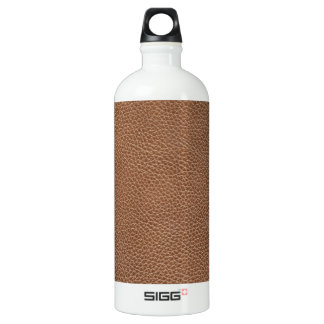Faux Leather Natural Brown Water Bottle