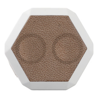 Faux Leather Natural Brown White Bluetooth Speaker