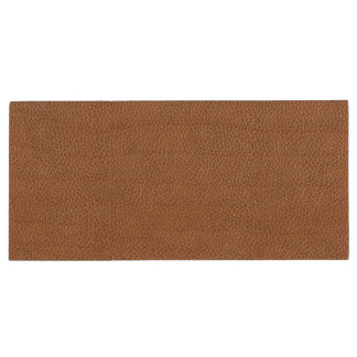 Faux Leather Natural Brown Wood USB 3.0 Flash Drive