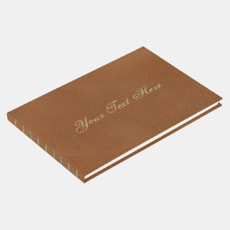Faux Leather Pattern Guest Book