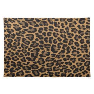 faux leopard print placemat