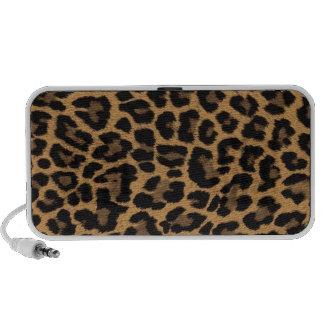 faux leopard print mini speakers