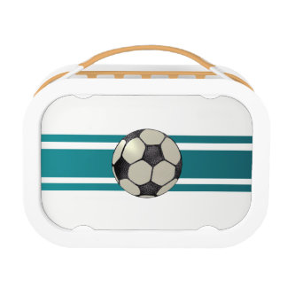 Faux letter Soccer Ball Design Lunch box