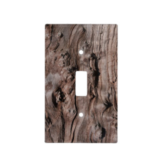 Faux Little Knot Wood Light Switch Cover