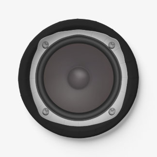 Faux Loudspeaker Paper Plate