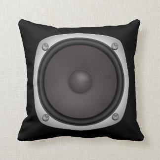 Faux Loudspeaker Throw Pillow