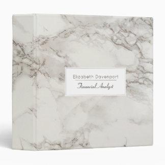 Faux Marble Alabaster in Taupe Modern Binder