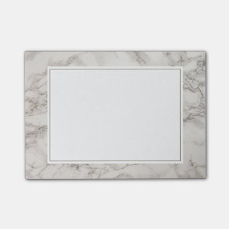 Faux Marble Alabaster Taupe Tan Modern Post-it® Notes