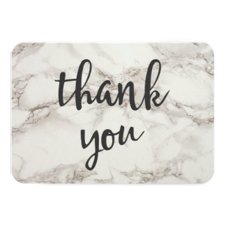 Faux Marble Alabaster Thank You Card