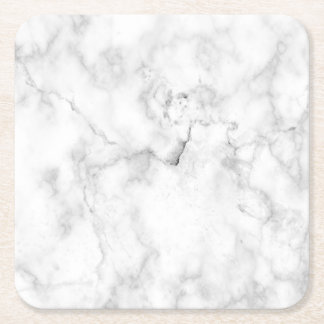 Faux marble look square paper coaster
