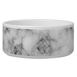 Faux Marble Pet Bowl