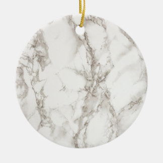 (faux) marble - sophisticated trendy beautiful round ceramic ornament