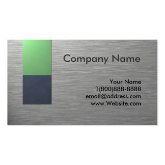 Faux Metal Business Card Design