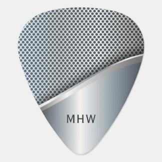 Faux Metal custom monogram guitar pick