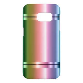 Faux Metal Gradient Purple To Green 2 Samsung Galaxy S7 Case
