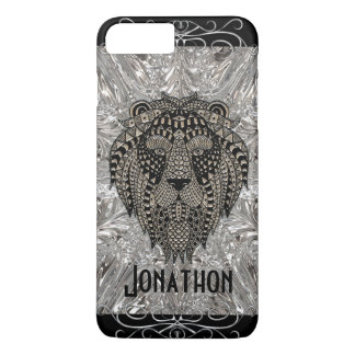 Faux Metal Lion Tribal Phone Case