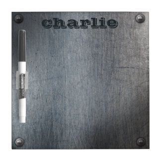 Faux Metal Plate custom name message board