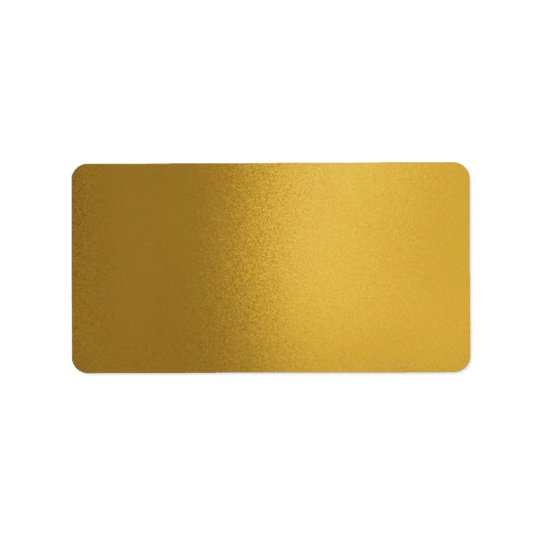 Faux Metalic Gold Lable