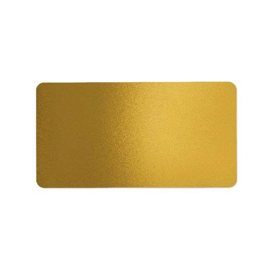 Faux Metalic Gold Lable Label