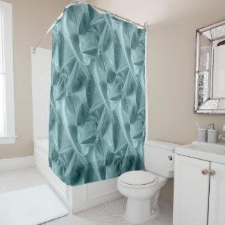 Faux Metallic Aqua Lame' Fabric Crumpled Textured