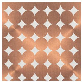 Faux metallic copper dots design fabric
