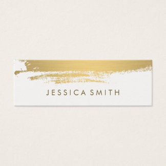 Faux Metallic Gold Brushed Mini Business Card