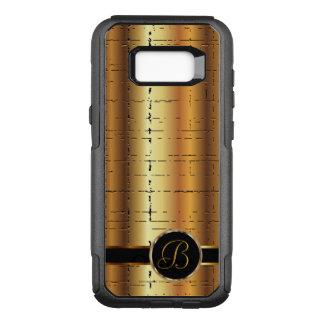 Faux Metallic Gold Design  | Monogram OtterBox Commuter Samsung Galaxy S8+ Case