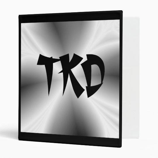 Faux Metallic Silver TKD Binder