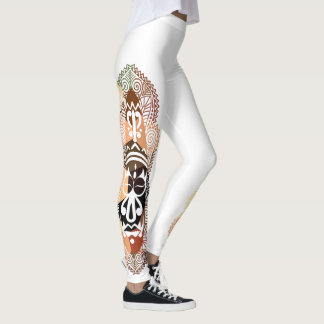 Faux Mosaic Aboriginal/African Mask Leggings