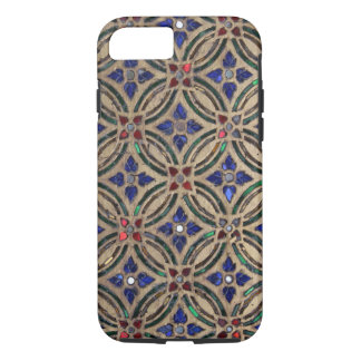 Faux mosaic tile pattern stone glass photo Morocco iPhone 8/7 Case