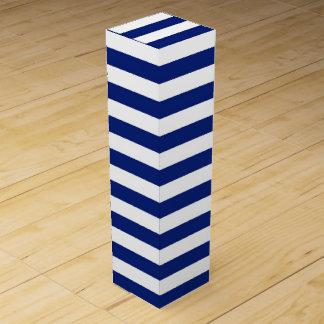 Faux ;) Navy Stripes Nautical Pattern Wine Gift Boxes