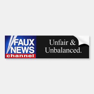 Faux News Channel bumper sticker